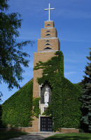 Our Lady of the Sioux Chapel proudly stands in the center of campus welcoming one and all.