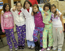 St. Joseph's students celebrate Red Ribbon Week.