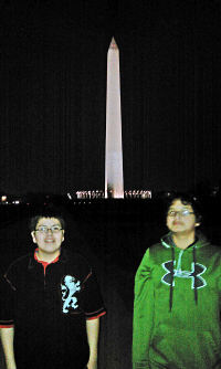 Alex and Gabe in Washington DC.