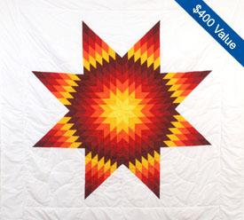 Enter to win a Lakota star quilt, a $400 value!