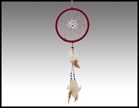 Native American inspired: 3 Inch Purple Dreamcatcher.
