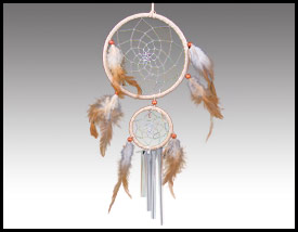 Native American inspired: Double Dreamcatcher Windchime