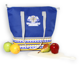 Become a monthly donor and receive a FREE insulated lunch tote bag!