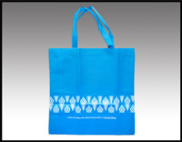 Click here for more information about Blue Woven Tote Bag - (010007)