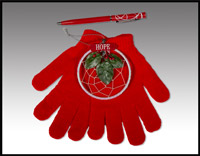 Click here for more information about Winter Gloves with Pen and Hope Dreamcatcher
