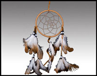 "Click here for more information about 4"" Rawhide Dreamcatcher"