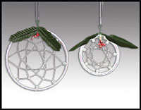 Click here for more information about White Winter Dreamcatcher Set