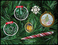 Click here for more information about Five Christmas Ornaments