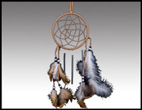 "Click here for more information about 4"" Dreamcatcher Windchime"
