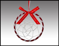 "Click here for more information about 4"" Dreamcatcher Ornament With Bow"