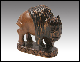 Native American inspired: Resin Buffalo Sculpture