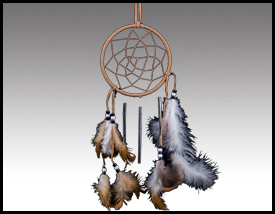 Native American inspired: 4 Inch Dreamcatcher Windchime.