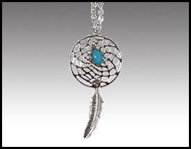 Native American inspired: Dreamcatcher Necklace