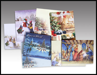 Eight Assorted Christmas Cards
