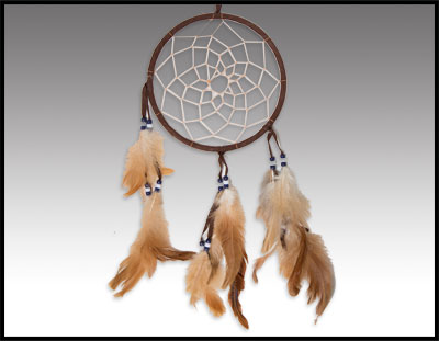 "Native American inspired: 6"" Dreamcatcher"
