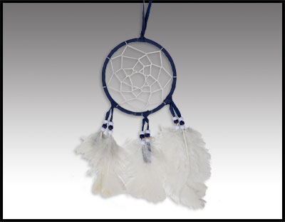 Native American inspired: Navy Blue Dreamcatcher
