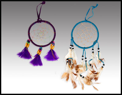 Purple & Turquoise Dreamcatchers