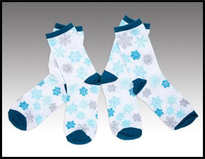 2 Pair of Snowflake Socks