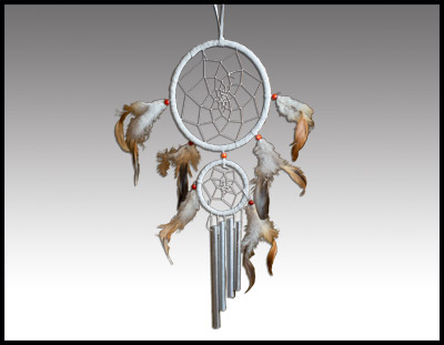 Double Dreamcatcher with Chimes