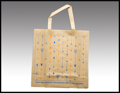 Woven Tote with Arrow Design