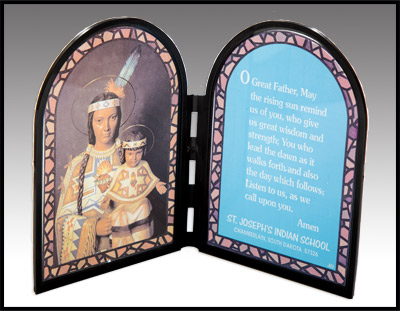 Our Lady of the Sioux Prayer Plaque