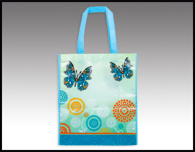 Blue & Green Butterfly Tote